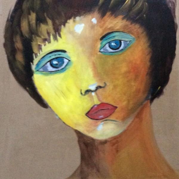 auto portrait Andrée Oconel